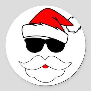 Cool Santa Claus Round Car Magnet