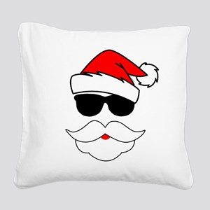 Cool Santa Claus Square Canvas Pillow