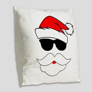 Cool Santa Claus Burlap Throw Pillow