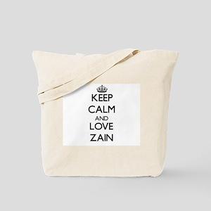 Keep Calm and Love Zain Tote Bag