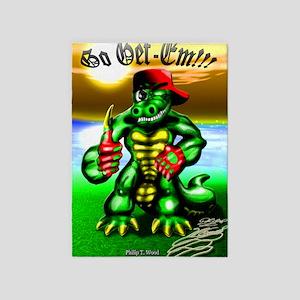 Ray Gator 2 (23x35 Size) 5'x7'Area Rug