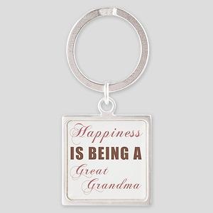 Happiness_GreatGrandma Square Keychain
