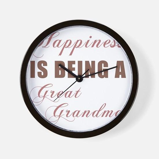 Happiness_GreatGrandma Wall Clock