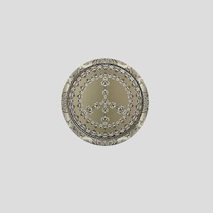 elegant peace 10x10 Mini Button