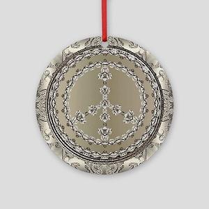 elegant peace 10x10 Round Ornament