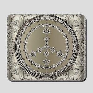 elegant peace 10x10 Mousepad