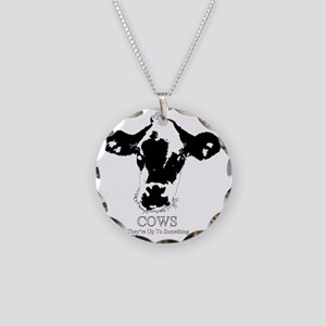 Suspicious Cows Necklace Circle Charm