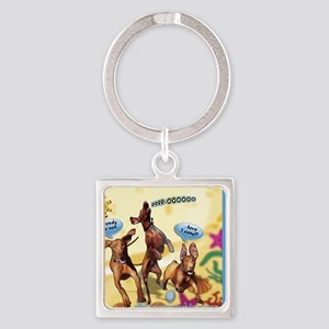 Cartoon_1_Cover Square Keychain