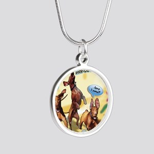 Cartoon_1_Cover Silver Round Necklace