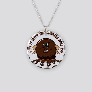 angry biscuit round Necklace Circle Charm