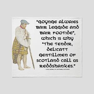 highlandredshanks001a Throw Blanket
