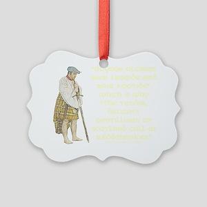 highlandredshanks001b1 Picture Ornament