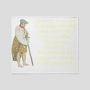 highlandredshanks001b1 Throw Blanket