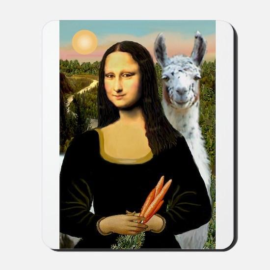 Mona Lisa's Llama Mousepad