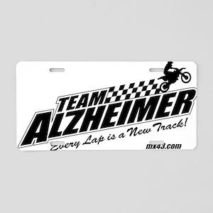 Team Alzheimer Aluminum License Plate