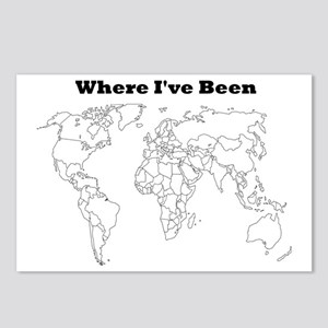 where ive been Postcards (Package of 8)