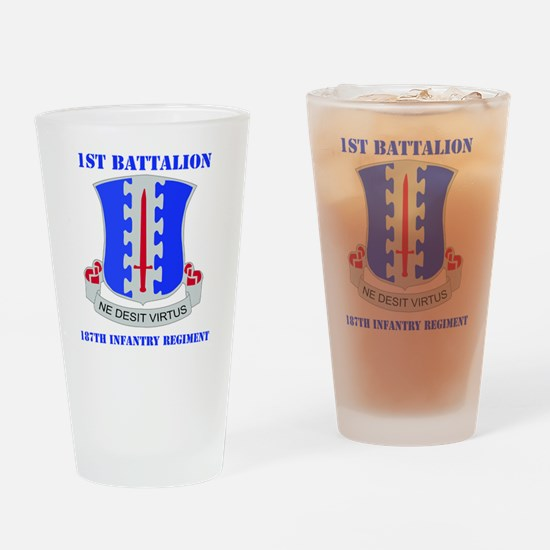 1-187 IN RGT WITH TEXT Drinking Glass