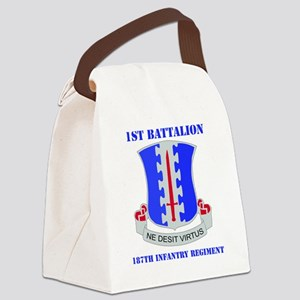 1-187 IN RGT WITH TEXT Canvas Lunch Bag