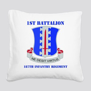 1-187 IN RGT WITH TEXT Square Canvas Pillow