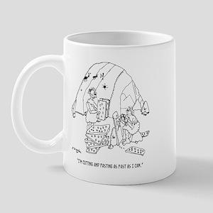Caveman Cutting & Pasting Mug