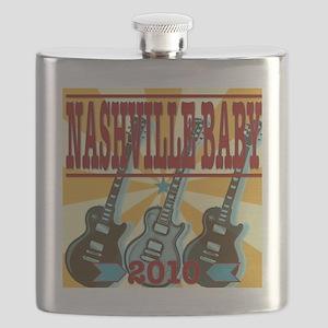 Nashville Baby Guitar Golden Flask