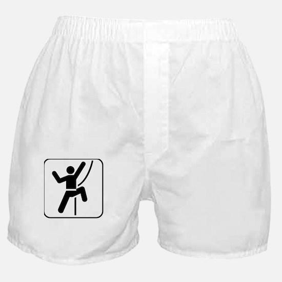 iClimb White Boxer Shorts