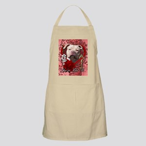 Valentine_Red_Rose_Pitbull_Jersey_Girl Apron