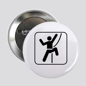 "ClimbingBroke White 2.25"" Button"
