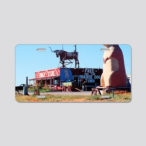 Prarie Dog Store Aluminum License Plate