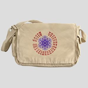 Christmahanakwanzika round Messenger Bag
