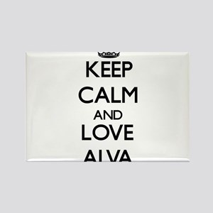 Keep Calm and Love Alva Magnets