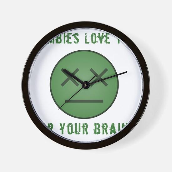 ZombieFaceBrains Wall Clock