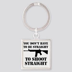 Straight2 Square Keychain