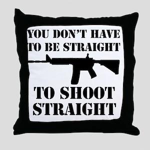Straight2 Throw Pillow