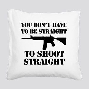 Straight2 Square Canvas Pillow