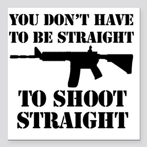 "Straight2 Square Car Magnet 3"" x 3"""
