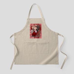 Valentine_Red_Rose_Labrador_Chocolate Apron