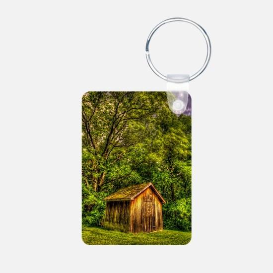 journal_wooden cabin Keychains