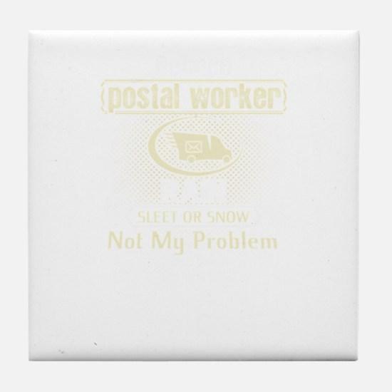 Retired Postal Worker Tile Coaster
