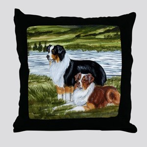 Aussie Tri Colors Throw Pillow