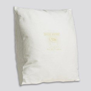 Retired Postal Worker Burlap Throw Pillow