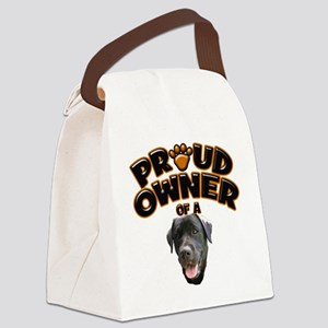 Proud Owner of a Black Lab Canvas Lunch Bag