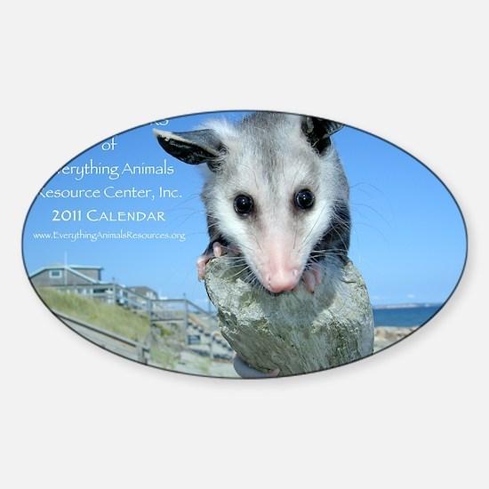 Everything Animals calendar cover Sticker (Oval)