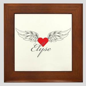 Angel Wings Elyse Framed Tile
