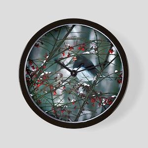 junco w berry  Wall Clock