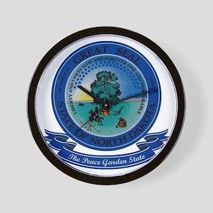 North Dakota Seal Wall Clock