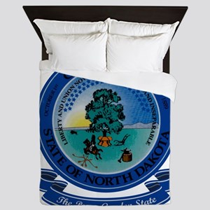 North Dakota Seal Queen Duvet
