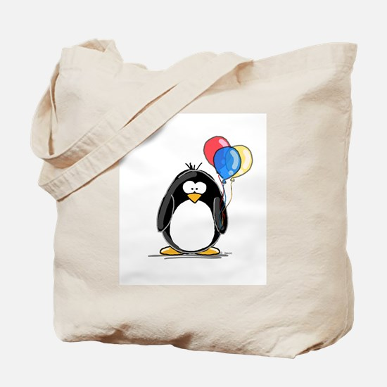 Primary Balloons Penguin Tote Bag