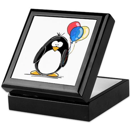 Primary Balloons Penguin Keepsake Box