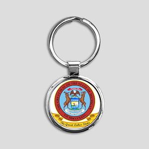 Michigan Seal Round Keychain